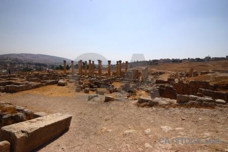 Corinthium jarash gerasa block stone.