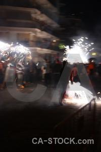 Correfocs fiesta javea firework person.