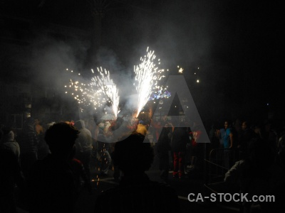 Correfocs fiesta javea person firework.