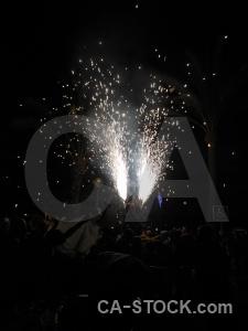 Correfocs firework black spain javea.
