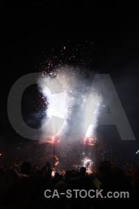 Correfocs firework spain javea spark.