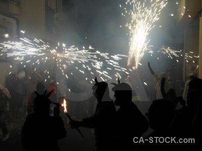 Correfocs javea firework building fiesta.