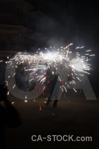 Correfocs javea person fiesta firework.