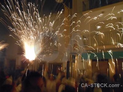 Correfocs person javea fiesta firework.