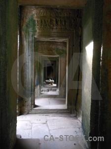 Corridor fungus stone temple ruin.