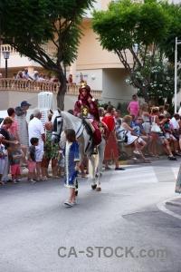 Costume fiesta horse moors person.
