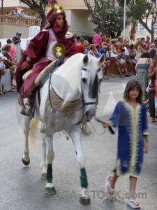 Costume javea fiesta horse road.
