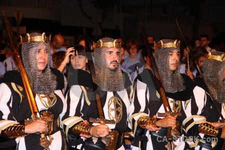 Costume moors sword javea person.