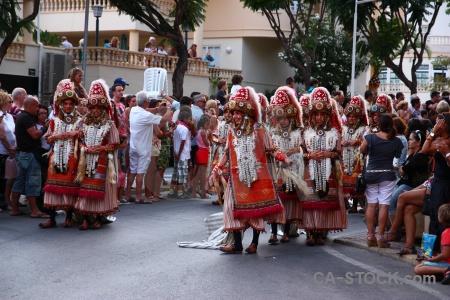 Costume person christian fiesta moors.