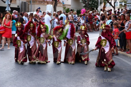 Costume person javea moors fiesta.