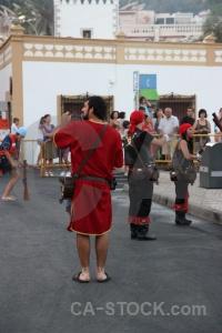 Costume person musket spain fiesta.