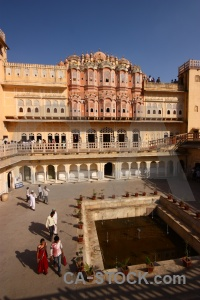 Courtyard monument palace of winds jaipur hawa mahal.