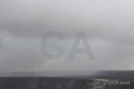 Crater gray smoke volcanic.