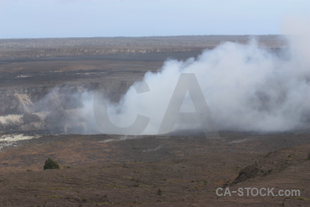Crater smoke landscape volcanic.