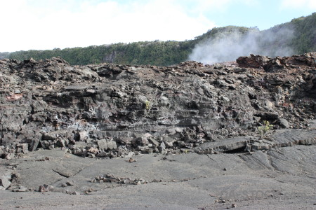 Crater volcanic lava gray white.