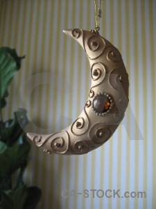 Crescent object ornament.