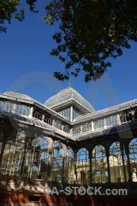 Crystal palace building glass madrid parque del retiro.