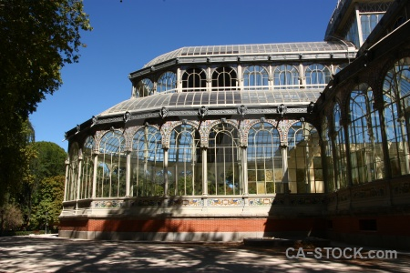 Crystal palace building spain parque del retiro glass.