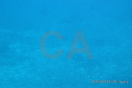 Cyan blue underwater.