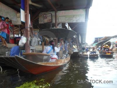 Damnoen saduak ton khem market asia boat.