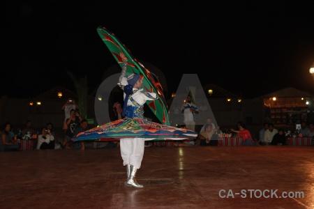 Dancing dubai spin arabic sufi whirling.