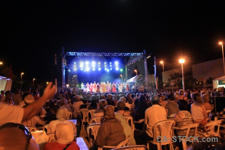 Dancing person stage javea fiesta.