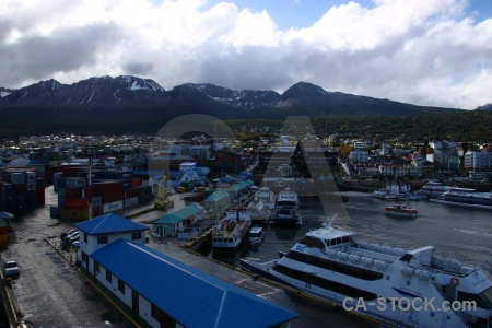 Day 1 ship harbour tierra del fuego water.