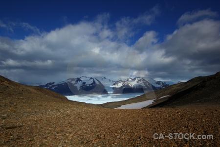 Day 3 glacier grey snow landscape sky.