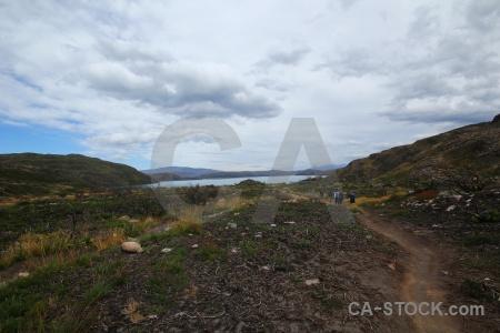 Day 4 grass path lake patagonia.