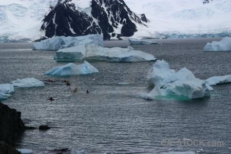 Day 6 canoe iceberg snow mountain.