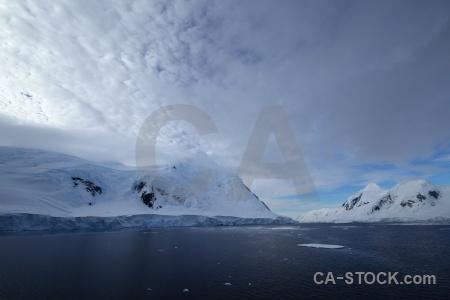 Day 6 cloud south pole gunnel channel snowcap.
