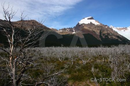 Dead argentina snowcap landscape trek.