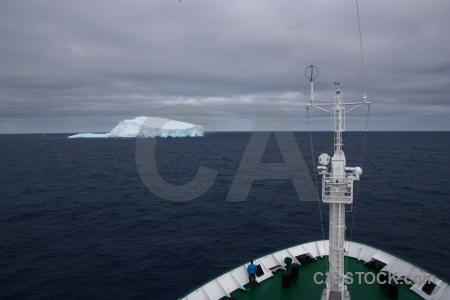 Deck sky antarctica cruise iceberg sea.