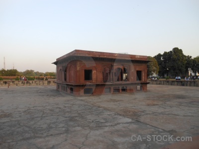 Delhi unesco monument red fort building.