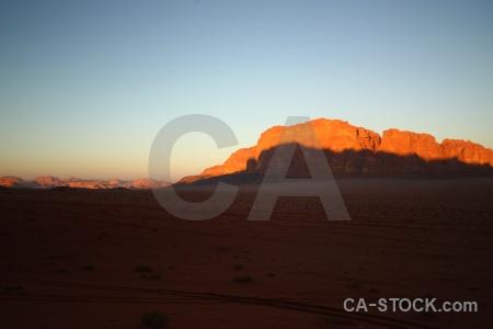 Desert asia jordan rock cliff.
