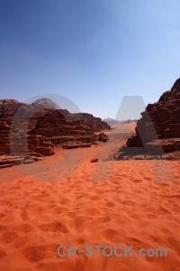 Desert bedouin wadi rum sand middle east.