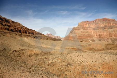 Desert brown landscape rock blue.