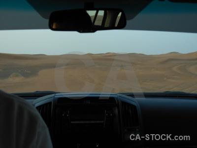 Desert car sand asia middle east.