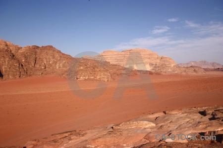 Desert landscape western asia mountain wadi rum.