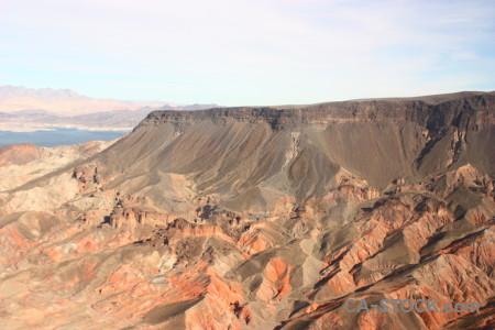Desert mountain rock landscape white.