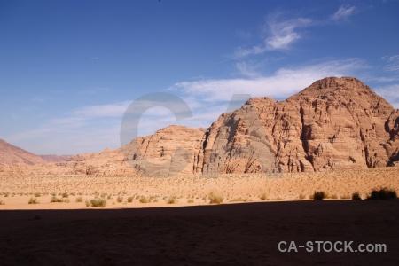 Desert mountain western asia landscape sky.