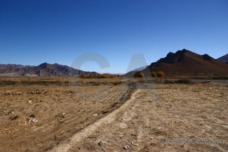 Desert plateau east asia friendship highway sky.