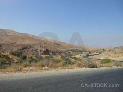 Desert road western asia jordan sky.
