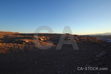 Desert rock landscape chile valle de la luna.