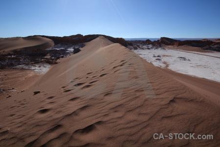 Desert salt valle de la luna atacama desert landscape.