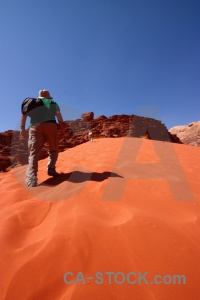 Desert sand sky wadi rum rock.