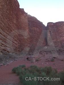Desert sky plant mountain rock.