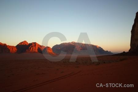 Desert western asia mountain sky sand.