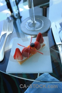 Dessert dubai restaurant strawberry plate.