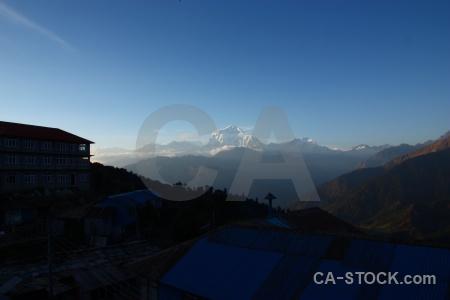 Dhampus peak annapurna sanctuary trek snowcap himalayan tukche.